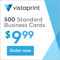 Vistaprint 500 Cards for $9.99